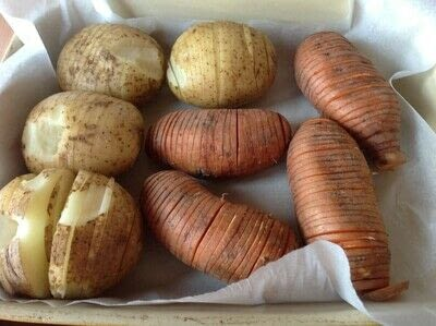 How to cook a hasselback potato. Garlic Parmigiana Hasselback Potatoes  - Step 1