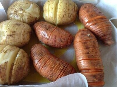 How to cook a hasselback potato. Garlic Parmigiana Hasselback Potatoes  - Step 2