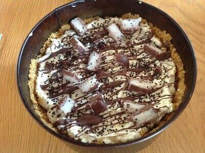 How to bake a cheesecake. Bounty Bar Cheesecake  - Step 6