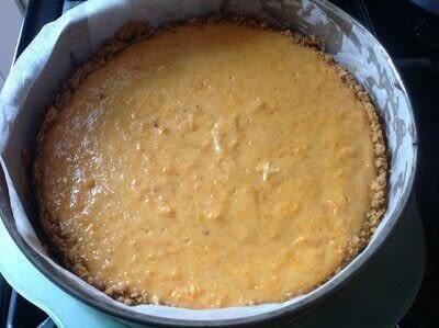 How to bake a cheesecake. Sweet Potato Cheesecake  - Step 7