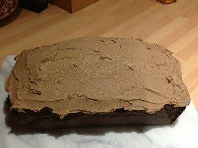 How to bake a chocolate cake. Chocolate Orange Loaf  - Step 9