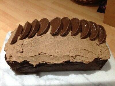 How to bake a chocolate cake. Chocolate Orange Loaf  - Step 10