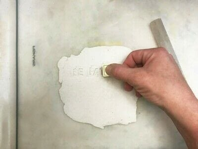 How to sculpt a clay shape. Inspirational Quote Plaque Using Clay - Step 1