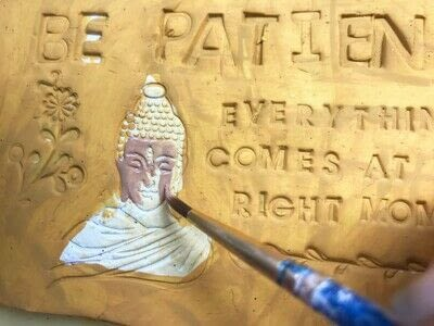 How to sculpt a clay shape. Inspirational Quote Plaque Using Clay - Step 2