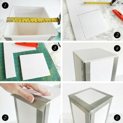 How to make an embellished box. Holiday Bath Tissue Holder - Step 5