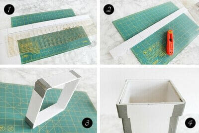 How to make an embellished box. Holiday Bath Tissue Holder - Step 7