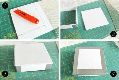 How to make an embellished box. Holiday Bath Tissue Holder - Step 10