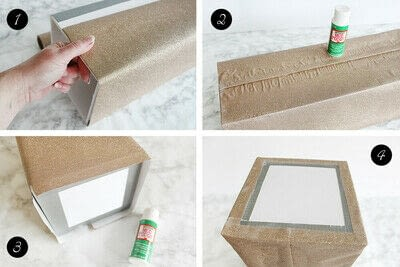 How to make an embellished box. Holiday Bath Tissue Holder - Step 13