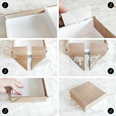 How to make an embellished box. Holiday Bath Tissue Holder - Step 14