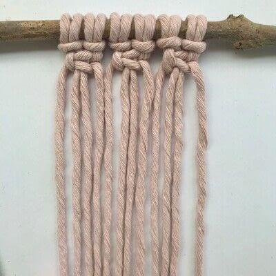 How to make a yarn wall hanging. Macrame Wall Hanging - Step 4