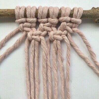 How to make a yarn wall hanging. Macrame Wall Hanging - Step 5