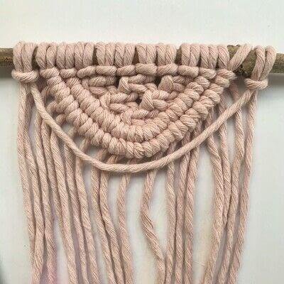 How to make a yarn wall hanging. Macrame Wall Hanging - Step 14