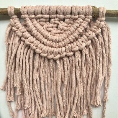 How to make a yarn wall hanging. Macrame Wall Hanging - Step 15