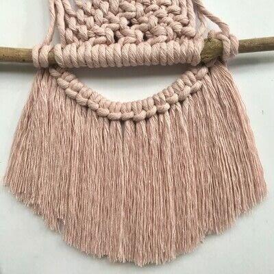 How to make a yarn wall hanging. Macrame Wall Hanging - Step 17