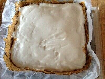 How to bake a cheesecake. Nutella Cheesecake Bars - Step 3