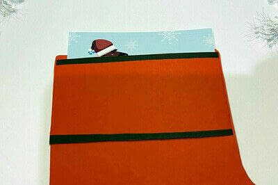 How to make a greetings card. Christmas Card To Surprise Horse Lovers - Step 4