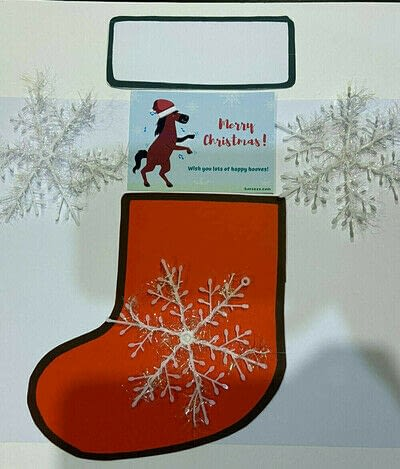 How to make a greetings card. Christmas Card To Surprise Horse Lovers - Step 8