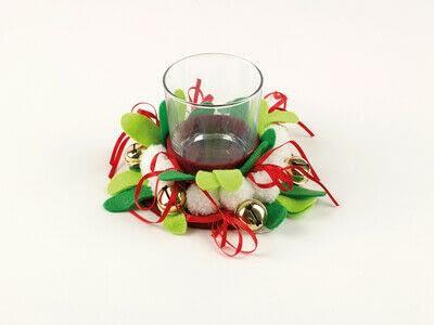 How to make a votive / candle holder. Christmas Tea Light - Step 4