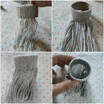 How to make a Christmas tree ornament. Beanie Ornament - Step 10