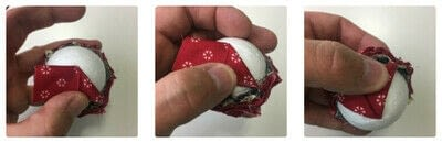 How to make an ornament. Quilted Ball Ornament - Step 3