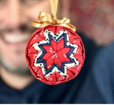 How to make an ornament. Quilted Ball Ornament - Step 6
