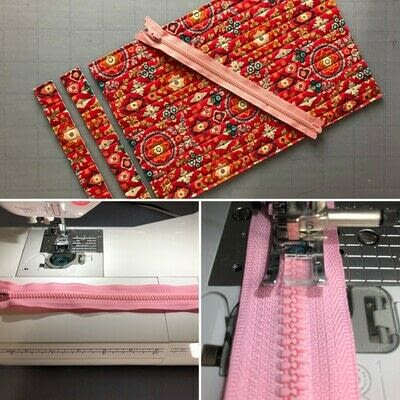 How to make a zipper pouch. Zippered Project Bag - Step 1