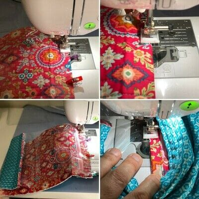 How to make a zipper pouch. Zippered Project Bag - Step 4