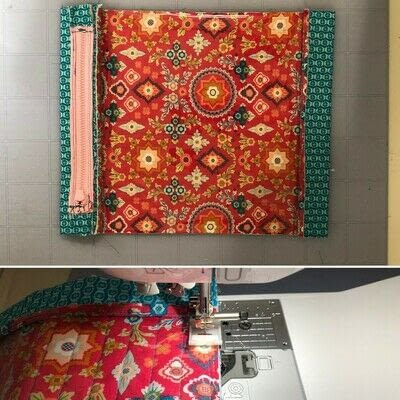 How to make a zipper pouch. Zippered Project Bag - Step 5