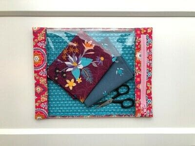 How to make a zipper pouch. Zippered Project Bag - Step 6