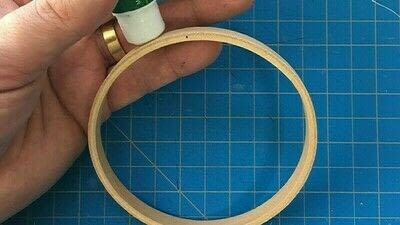 How to make an ornament. Hoop It Up Ornament - Step 3