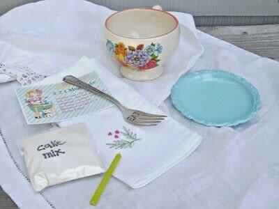 How to bake a cake. Diy Coffee Mug Gift Baskets - Step 1