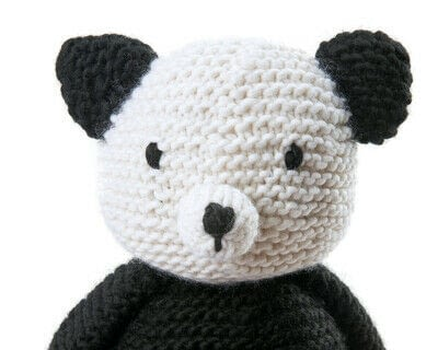 How to make a panda plushie. Knit Claire Panda - Step 2