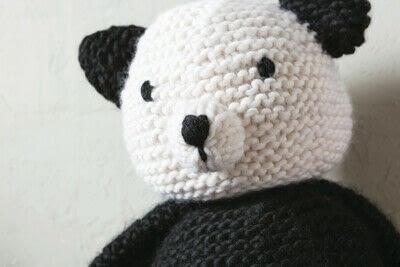 How to make a panda plushie. Knit Claire Panda - Step 4