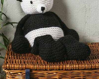 How to make a panda plushie. Knit Claire Panda - Step 5