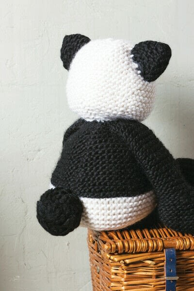 How to make a panda plushie. Knit Claire Panda - Step 8