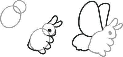 How to draw a manga drawing. Humongo Fuzz Drawing - Step 1