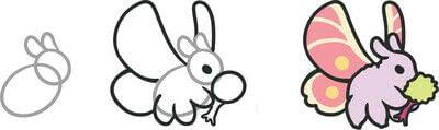 How to draw a manga drawing. Humongo Fuzz Drawing - Step 4