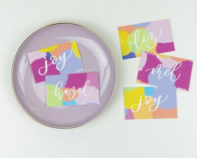How to make a gift tag. Colorful Name Tags - Step 9