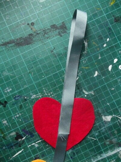 How to make a hanging garland. Rainbow Heart Hanger - Step 6