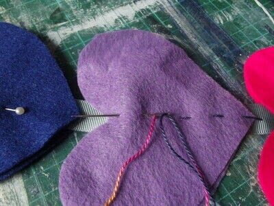 How to make a hanging garland. Rainbow Heart Hanger - Step 7