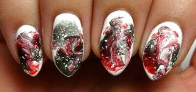 How to paint a marbled nail. Marble Mayhem - Step 2