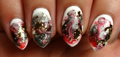 How to paint a marbled nail. Marble Mayhem - Step 3