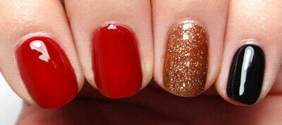 How to paint a nail painting. Posh Plaid - Step 1
