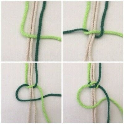 How to make a hanging planter. Macrame Plant Hanger - Step 5