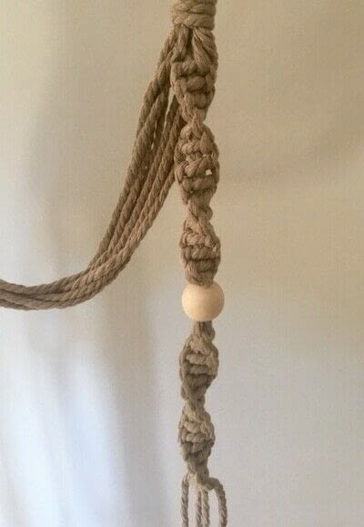 How to make a hanging planter. Macrame Plant Hanger - Step 6