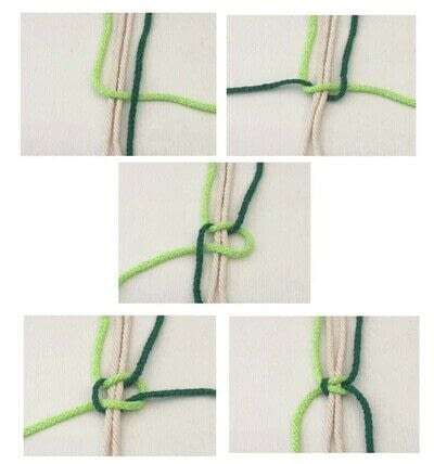 How to make a hanging planter. Macrame Plant Hanger - Step 9