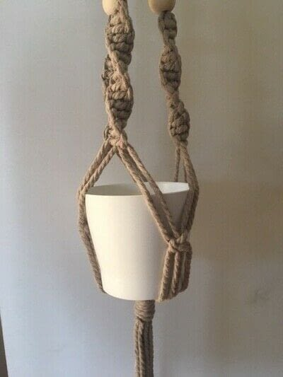 How to make a hanging planter. Macrame Plant Hanger - Step 12