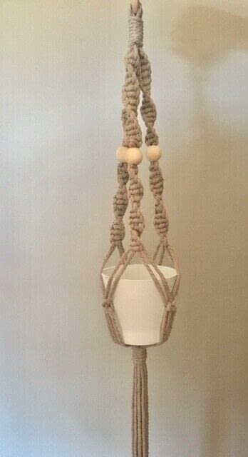 How to make a hanging planter. Macrame Plant Hanger - Step 13