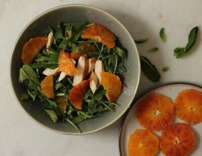 How to make a salad. Zingy Arugula And Blood Orange Salad - Step 6