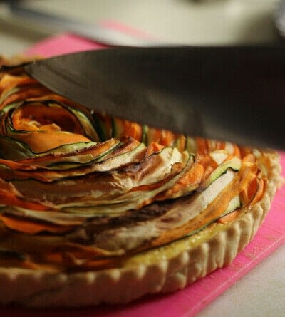 How to bake a pie. Winter Veg And Goat's Cheese Tart - Step 5